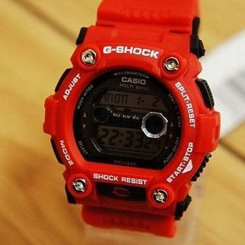AUGUAU G-shock watches (red, blue and brown)