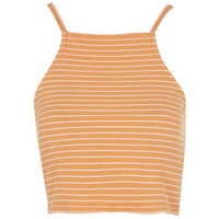 PETITE Exclusive Striped Crop Top - Yellow