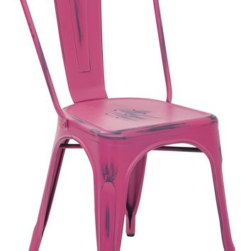 Office Star Antique Pink Bristow Armless Chair (Set of 2)