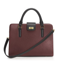 Edie attaché bag in two tone