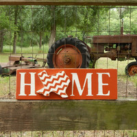 Texas Home Sign, Longhorn Texas Home Sign, Burnt Orange Home Sign