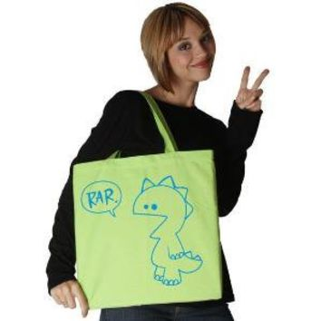 Rar Monster Lime Tote by rainbowswirlz on Etsy