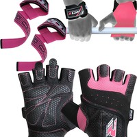 RDX WGA S5P Gym Gloves, Gel Strap and Weight Lifting Grips