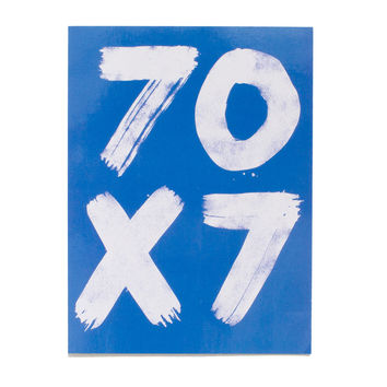 70 x 7 Blue Sticker