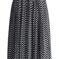 Easy Cheque Pleated Chiffon Skirt