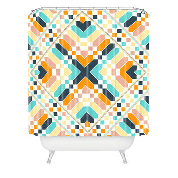 Budi Kwan Retrographic Space Shower Curtain