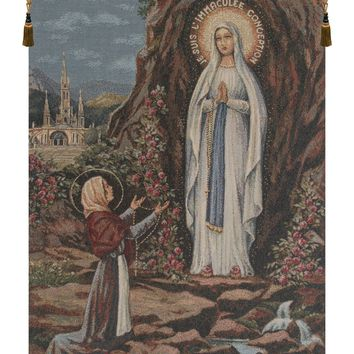 Apparitione Lourdes Tapestry Wall Hanging