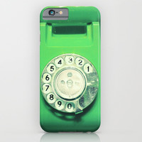 OLD PHONE - BRILLANT GREEN EDITION - for iphone iPhone & iPod Case by Simone Morana Cyla
