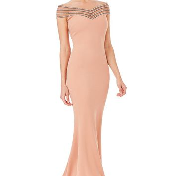 Off Shoulder Long Evening Dress