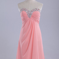 Custom Sweetheart Neckline Wedding Dress/Bridesmaids Dress/Prom Dresses