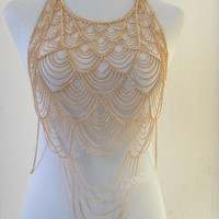 Body Chain Silver Gold Layered