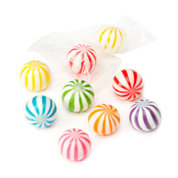 Assorted Sassy Spheres Striped Candy Balls - Petite: 5LB Bag