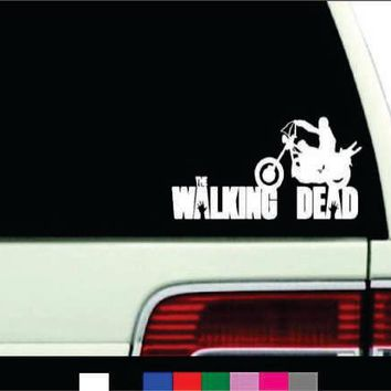 daryl Motorcycle The Walking Dead Logo Vinyl Sticker Decal For Car Windows Laptop