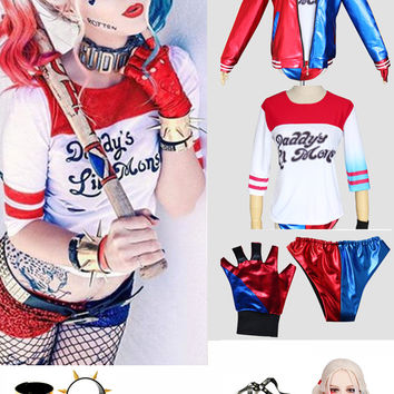 Harley Quinn Suicidé Squad Costume Cosplay 9 Sets