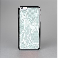 The Subtle Green and White Lace Design Skin-Sert for the Apple iPhone 6 Skin-Sert Case