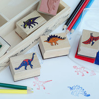 Dinosaur Or Vehicles Wooden Stamp Set