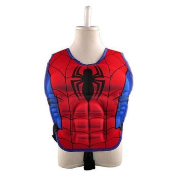 New Kids Life Jacket Vest Superman Batman Spiderman Swimming Boys Girls Fishing Superhero Swimming Circle Pool Accessories Ring