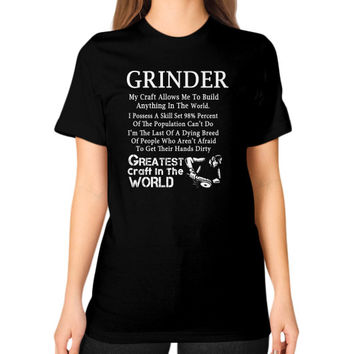 Grinder Unisex T-Shirt (on woman)