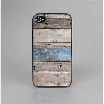 The Multicolored Tinted Wooden Planks Skin-Sert Case for the Apple iPhone 4-4s