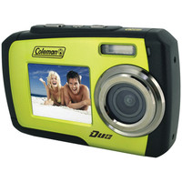 Coleman 14.0 Megapixel Duo Waterproof Dual Screen Digital Camera (green)