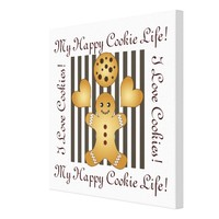 Cute Team Cookie Cartoon Personalized Kids Room Canvas Print