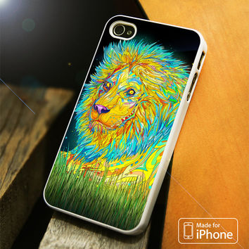 Trippy Lion iPhone 4 5 5C SE 6 Plus Case