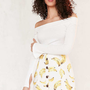 Cooperative Printed Twill Button-Front Mini Skirt | Urban Outfitters