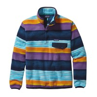 Patagonia Men's Lightweight Synchilla® Snap-T® Pullover | Painted Fitz Stripe: Navy Blue