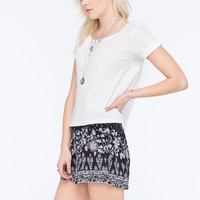 Full Tilt Essential Womens Easy Tee White  In Sizes