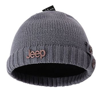 Jeep Winter Warm Knit Skull Beanie Hat With Fleece Inner For Both Men And Women Knit Hats Caps