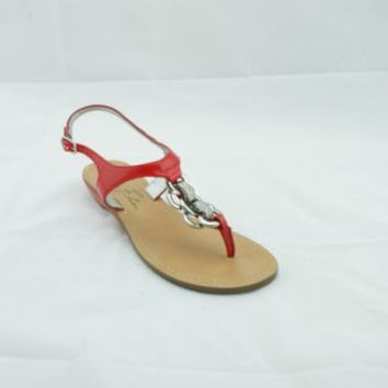 Marc Fisher Glitz Red Patent Leather Thong Flat Sandals Women's 5.5 M