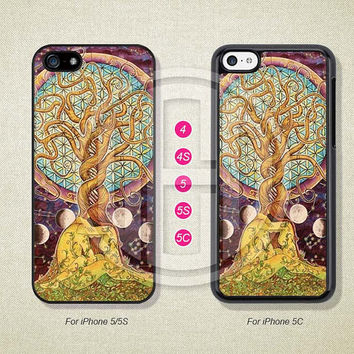 Phone Cases, iPhone 5S Case, iPhone 5 Case, iPhone 5C Case, iPhone 4 case, iPhone 4S case, Tree of Life, Case For iPhone --L50082
