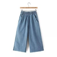 Summer Boyfriend Denim Pants Capri [4919965060]