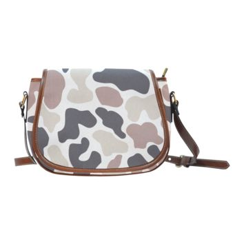Women Shoulder Bag Brown Cloud Camouflage Saddle Bag Large
