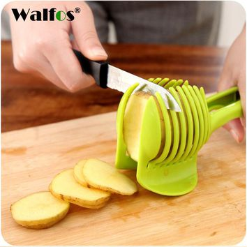 WALFOS Multifunctional Fruit Vegetable Slicer Lemon Tomato Slice Kitchen accessories Cooking Device Creative Kitchen gadget Tool