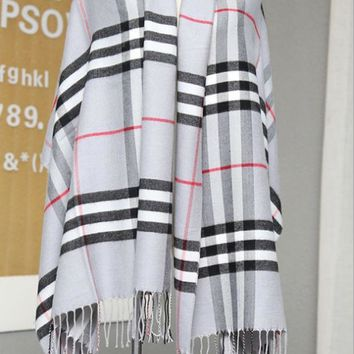 ONETOW Copy of Fall and winter new imitation cashmere plaid scarf