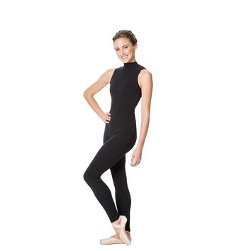 Lulli Women's Black Turtleneck Unitard