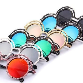 Hipster Round Sunglasses, All Colors!