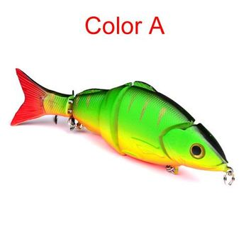 Swimming Pool beach 22g/12.8cm 4 Color Swim Fishing Lures Fishing Bait Exported To Usa 3D Fishing Tackle Jointed Lures Outdoor AccessoriesSwimming Pool beach KO_14_1
