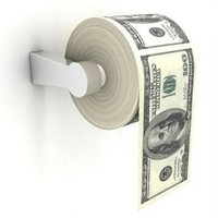 Money Toilet Roll - USD $100 Dollar Bill Toilet Paper