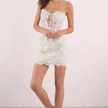 Marilyn Lace Bustier Bodycon Dress