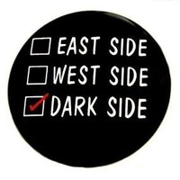 Dark Side Check Button Pin by theangryrobot