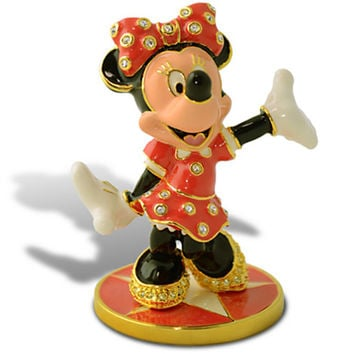 Disney Minnie Mouse Jeweled Figurine by Arribas New Limited Edition 5000