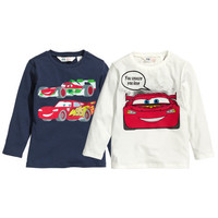 2-pack Long-sleeved T-shirts - from H&M