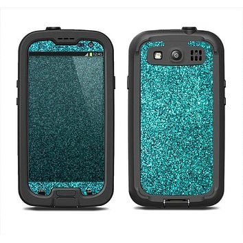 The Teal Glitter Ultra Metallic Samsung Galaxy S3 LifeProof Fre Case Skin Set