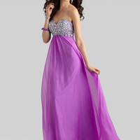 Sweetheart Beaded Top Formal Prom Dress Clarisse 2306