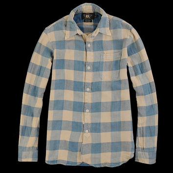 UNIONMADE - RRL - Plaid Bulldog Work Shirt in Indigo