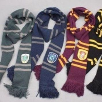 ca DCCKTM4 Harry Potter Gryffindor Slytherin Hufflepuff Ravenclaw House Cosplay Scarf Collections [8919790215]