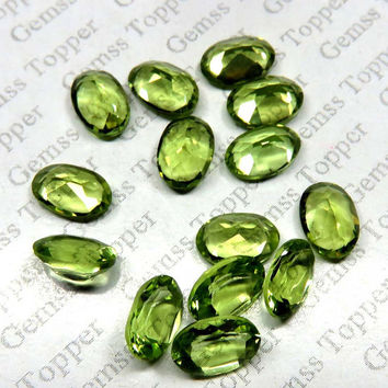 4x6mm Peridot Faceted Oval - Calibrated Size Top Quality Natural Faceted Cut Oval Green Color Loose Gemstone - FOR ONE