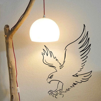 Wall Decor Vinyl Sticker Room Decal Eagle Bird Animal Wings Sky Fly Flying Predator Symbol Falcon Hawk Accipiter (s228)